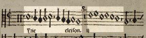 The first two phrases of the canonic voices highlighted in the original notation.