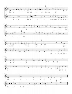 Pleni sunt caeli, in modern notation.